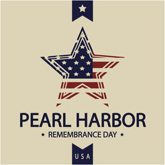 Pearl Harbor day card or background. vector illustration.