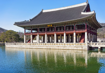 Royal Banquet Hall of Gyeongbokgung Palace in Seoul
