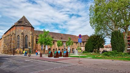 Unterlinden Museum in Colmar in Alsace France