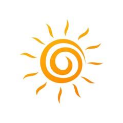 Sun Ornamental Logo Template