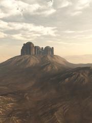 Desert Citadel - fantasy illustration
