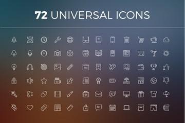 72 Universal Icons Set