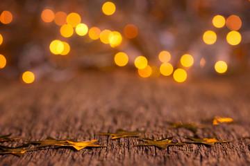 Wooden Christmas Bokeh Background