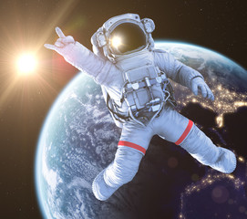 Rocking Astronaut, 3d render