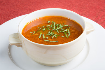 Red hot soup