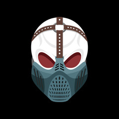 Skull protective mask. Hell defender. Terrible headache. skeleto