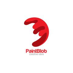 Creative Paint Blob Concept Logo Design Template