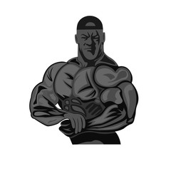 bodybuilding, fitness, weight lifting concept, vector illustration