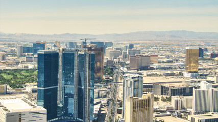 The Strip of Las Vegas - Hotels Aereal View