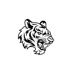 Tiger logo, Vector illustration