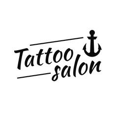 Electric tattooing vintage logo design
