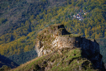 Castle ruins in the mountains of Courel