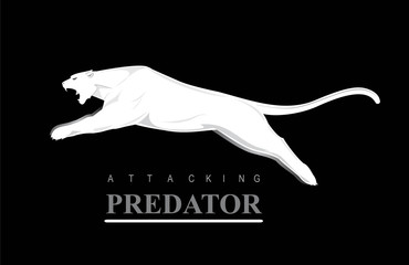 Leaping Predator. Leaping Cougar. Fearless Puma.