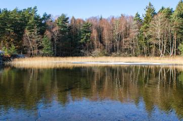 Sisjon in november lthe water is still