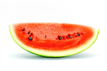 Watermelon Fruit isolated against white background.