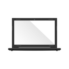 Modern glossy laptop isolated on white vector eps10