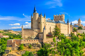 Segovia, Spain. The Alcazar of Segovia. Castilla y Leon. Wall mural