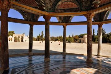 Tempelberg in Jerusalem - Blick aus dem Kettendom