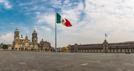 Wall Murals Mexico Panoramic view of Zocalo and Cathedral - Mexico City, Mexico