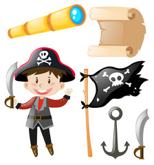 Pirate and pirate elements set