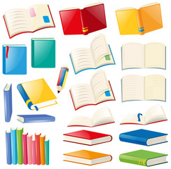Different design of book and notebooks
