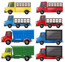 Different kinds of trucks