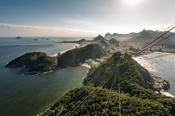 Famous view or Rio de Janeiro coast from the Sugarloaf Mountain