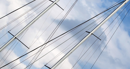 Freedom concept - website banner of sailing ship mast