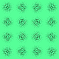 Tablecloth texture or wallpaper. Blurred round geometric ornaments on a soft green background.
