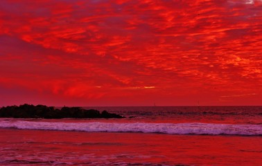 Amazing pacific ocean sunset pictures