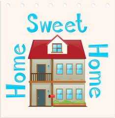 Wordcard with home sweet home
