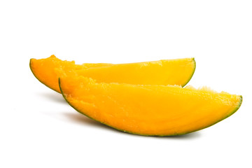 slices of ripe mango