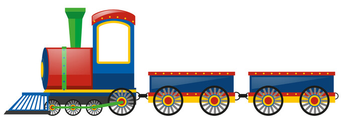Train and two wagon carts