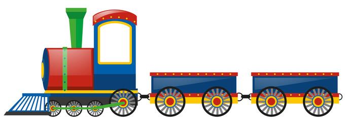 Train and two wagon carts