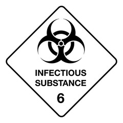 The illustration represents signage, icon, biological hazard, hospital waste and chemical. Ideal for catalogs of institutional materials