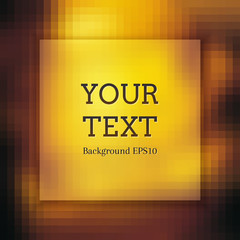 Abstract background of golden squares. Shades of gold. Empty space for text.
