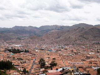 Cityscape of Cusco in Peru.