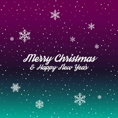 Merry Christmas and Happy New Year Vector Graphics