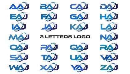 3 letters modern generic swoosh logo AAJ, BAJ, CAJ, DAJ, EAJ, FAJ, GAJ, HAJ, IAJ, JAJ, KAJ, LAJ, MAJ, NAJ, OAJ, PAJ, QAJ, RAJ, SAJ, TAJ, UAJ, VAJ, WAJ, XAJ, YAJ, ZAJ