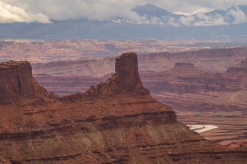Great views of scenic cliffs in Canyonlands national Park,Utah, USA.