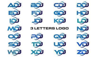 3 letters modern generic swoosh logo ADJ, BDJ, CDJ, DDJ, EDJ, FDJ, GDJ, HDJ, IDJ, JDJ, KDJ, LDJ, MDJ, NDJ, ODJ, PDJ, QDJ, RDJ, SDJ, TDJ, UDJ, VDJ, WDJ, XDJ, YDJ, ZDJ