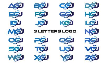 3 letters modern generic swoosh logo AGJ, BGJ, CGJ, DGJ, EGJ, FGJ, GGJ, HGJ, IGJ, JGJ, KGJ, LGJ, MGJ, NGJ, OGJ, PGJ, QGJ, RGJ, SGJ, TGJ, UGJ, VGJ, WGJ, XGJ, YGJ, ZGJ
