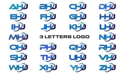 3 letters modern generic swoosh logo AHJ, BHJ, CHJ, DHJ, EHJ, FHJ, GHJ, HHJ, IHJ, JHJ, KHJ, LHJ, MHJ, NHJ, OHJ, PHJ, QHJ, RHJ, SHJ, THJ, UHJ, VHJ, WHJ, XHJ, YHJ, ZHJ