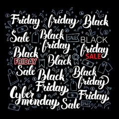 Black Friday Lettering Set