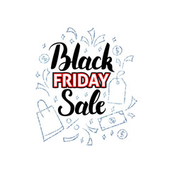 Black Friday Sale with Doodles