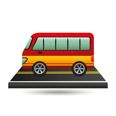 bus transport red and yellow design vector illustration eps 10
