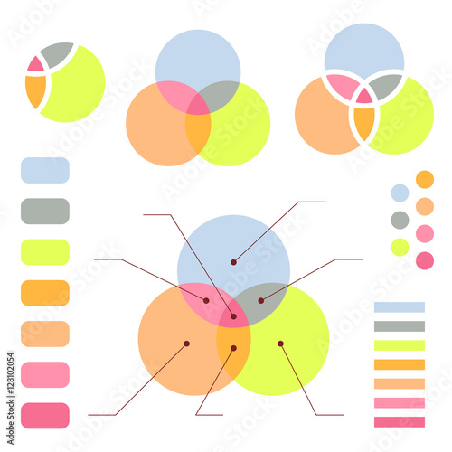 Venn diagram with note lines isolated on white background vector venn diagram with note lines isolated on white background vector illustration ccuart Choice Image