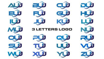 3 letters modern generic swoosh logo AUJ, BUJ, CUJ, DUJ, EUJ, FUJ, GUJ, HUJ, IUJ, JUJ, KUJ, LUJ, MUJ, NUJ, OUJ, PUJ, QUJ, RUJ, SUJ, TUJ, UUJ, VUJ, WUJ, XUJ, YUJ, ZUJ