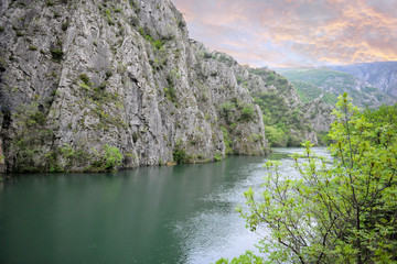 Small lake in the mountains. Natural attractions