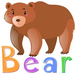 Wordcard for grizzly bear